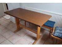Wood Veneer Kitchen Table