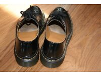 Size 4 Black Patent Doc Martens - In excellent condition only worn twice!!
