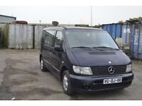 LEFT HAND DRIVE MERCEDES BENZ VITO, DRIVES WELL,GOOD LOAD SPACE,ENGINE & MECHANICS,PAPERS SORTED.