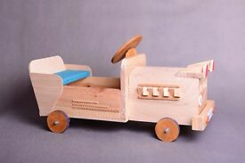 Mini car wood photo props, newborn baby children toddlers photo props, little limousine car toy
