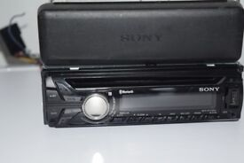 sony usb/cd/radio/auxin play ipod phone/univ wires/cage/subconnect
