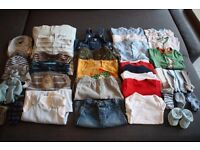 BABY BOY CLOTHES BUNDLE 3-6 MONTHS INCLUDING NEXT, M&S & MOTHERCARE