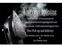 ImPress Ironing Service (Free pick up and delivery)