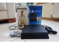 Sony PS4 500GB. Boxed. Less than 1 year old.