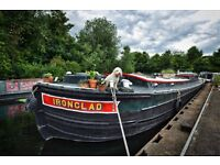 Historic 3 bedroom 72ft Widebeam Barge For Sale on Idyllic East London Mooring