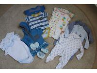 Newborn baby boy 0-3 month bundle - great for spring / summer