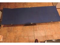 Camp Bed. Single. Very strong and stable once assembled. Packs up small. £10