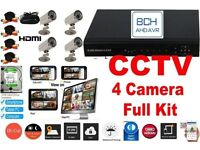 8 Channel CCTV DVR Security Camera System INCLUDES 4 cameras, 2TB Hard Drive Inside *BRAND NEW*