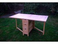 Ikea Norden Folding Gateleg Table Birch