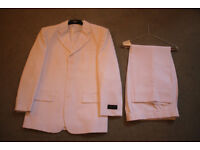 Bright white suit, 38R jacket and 32R trousers