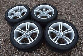 "18"" Alloy Wheels Genuine BMW Continental 245/45R18 Winter Snow Tyres 5 6 Series E60 E63 E64 M6 M5"