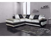 🏮🏮WOW UPTO 50% OFF🏮🏮 DINO CRUSHED VELVET CORNER SOFA OR 3 AND 2 SOFA/EXPRESS DELIVERY