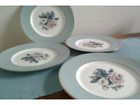 Royal Worcester 'Woodland' - Four 10 1/2 inch dinner plates.