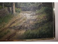 Large signed oil painting of Lake District . Philip Kilner