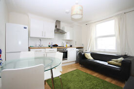A two bedroom apartment in a converted period terrace, only two minutes from New Cross station