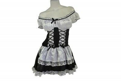 Adult Milkmaid (Sexy Adult Costume Women's Dress Up Role Play Halloween Party Barmaid Milkmaid)