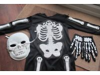 Sainsburys TU Skeleton Dressing-up Outfit for 5-6 year old