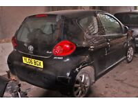 toyota Aygo, Colour black, 2006 year, Breaking and selling for parts for sale...