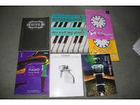 8 music books plus case, various levels