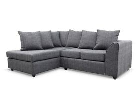 🔥💗🔥NOW IN CHARCOAL GREY🔥Brand New Dylan Byron Jumbo Cord Or Non-Corded Corner or 3+2 Seater Sofa