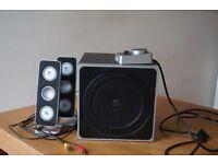 Logitech Z4 2.1 Speaker System, 2 satellites + subwoofer, 80W