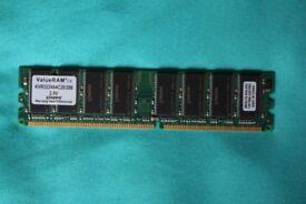 256 MB Kingston ValueRAM KVR333X64C25/256 (2 available)