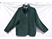 "Zantos Large Men's or Ladies Green Fleece Jumper C51"" & V-Neck T-Shirt Top C49"""