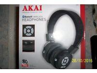 AKAI BLUETOOTH wireless HEADPHONES