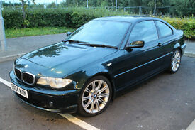 BMW 320CD DIESEL TURBO COUPE 3 series E46 M-SPORT INTERIOR MV2 ALLOYS LONG MOT FSH(325 330) £2295ono