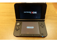 Nintendo Console 3DS XL Black + 3 Games (Donkey Kong Country 3D / Bravely Default / Mario Kart 7)