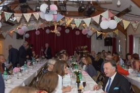 18 large cotton white tablecloths used once for a wedding