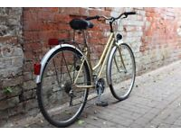 Immaculate, nearly new condition classic style French Pyrenea ladies bike from France - NEW tyres