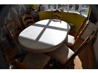 Oval Dinning table & 6 Chairs £60 or best offer