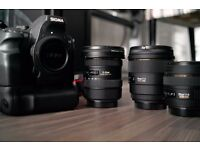 Sigma SD1M DSLR with 3 Sigma 10-20 30 85mm Lens