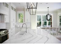 Pure White Quartz, Quartz Countertop, Kitchen Top