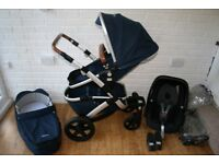 Joolz Geo Earth Mono single pram pushchair with car seat 3 in 1 - Parrot Blue **can post**