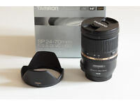Tamron SP 24-70mm F/2.8 Di VC USD Canon EF Fit Zoom Lens