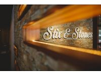 Stix and Stones Require Full Time & Part Time Food & Beverage Assistants