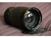 Soligor MACRO-ZOOM lens 1:3.5-4.5 35-200mm (67mm) + hood + flashgun Hanimex TZ*2 +bonus