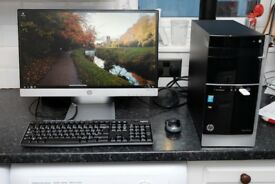 HP Pavilion 500-559na Desktop PC Computer i5 3.20ghz, 3tb hdd, 12gb memory, 2gb graphics, windows 10