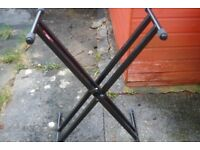 Keyboard Stand by Stagg. Black Steel Foldable. Good quality make.