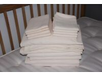 Bedding bundle - brushed cotton for single bed, cream / neutral colour, flat sheets, fitted sheets