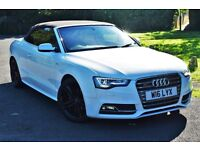 AUDI A5 2.0 TFSI 211 BHP CONVERTABLE WITH FULL AUDI S5 Facelift Sline,Px with bmw,mercedes,vw,