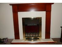 BEAUTIFUL ELECTRIC CONVECTION GLOW / FLAME EFFECT FIRE WITH SURROUND