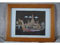Vintage Indian Tapestry of Royal Barge