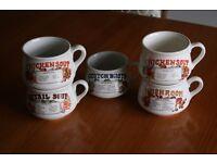 5 x retro 1970's soup bowls 5 x vintage soup bowls 1970'2 soup bowls