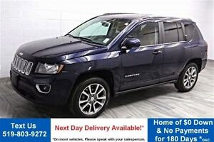 2014 Jeep Compass LIMITED 4WD! LEATHER! SUNROOF! HEATED SEATS! B