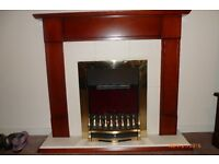 BEAUTIFUL ELECTRIC CONVECTION GLOW EFFECT FIRE WITH SURROUND