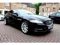JAGUAR XJ L 3.0D V6 LUXURY LWB AUTO 4 DR SALOON PAN ROOF SUN ROOF FSH HPI CLEAR EXCELLENT CONDITION
