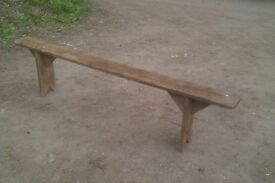 Old pine bench vintage chair antique seating